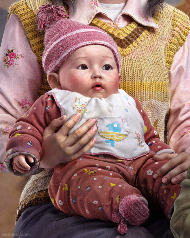 chinese baby 3d character by yuzijiang