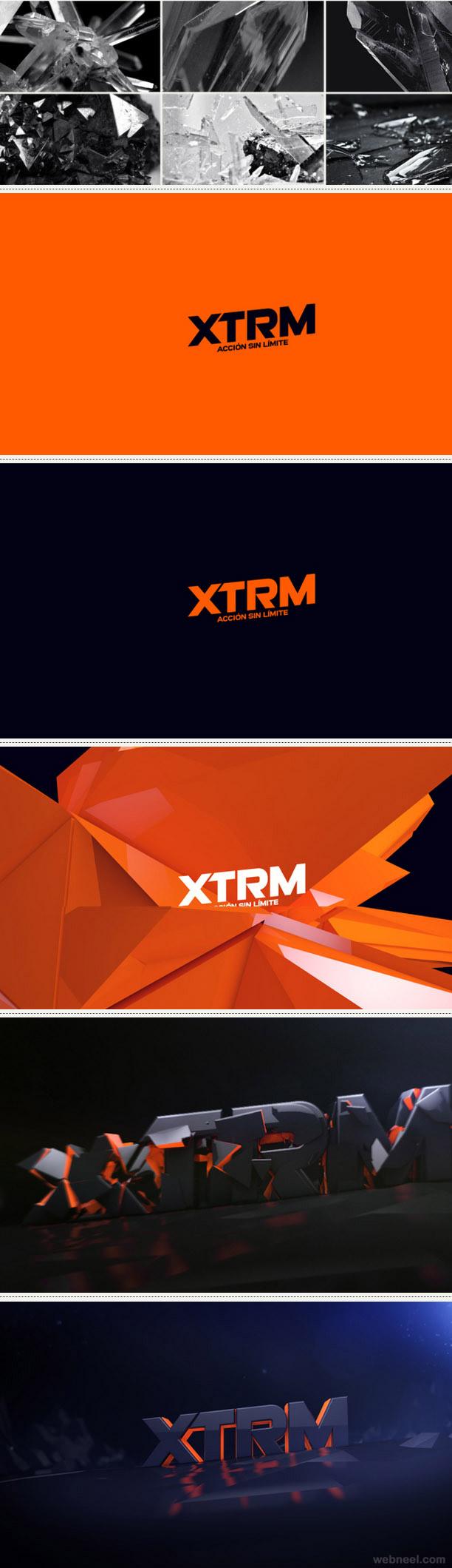 xtrm channel rebranding identity design