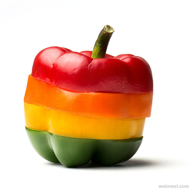 pepper rainbow food photography by ahmad abusaad