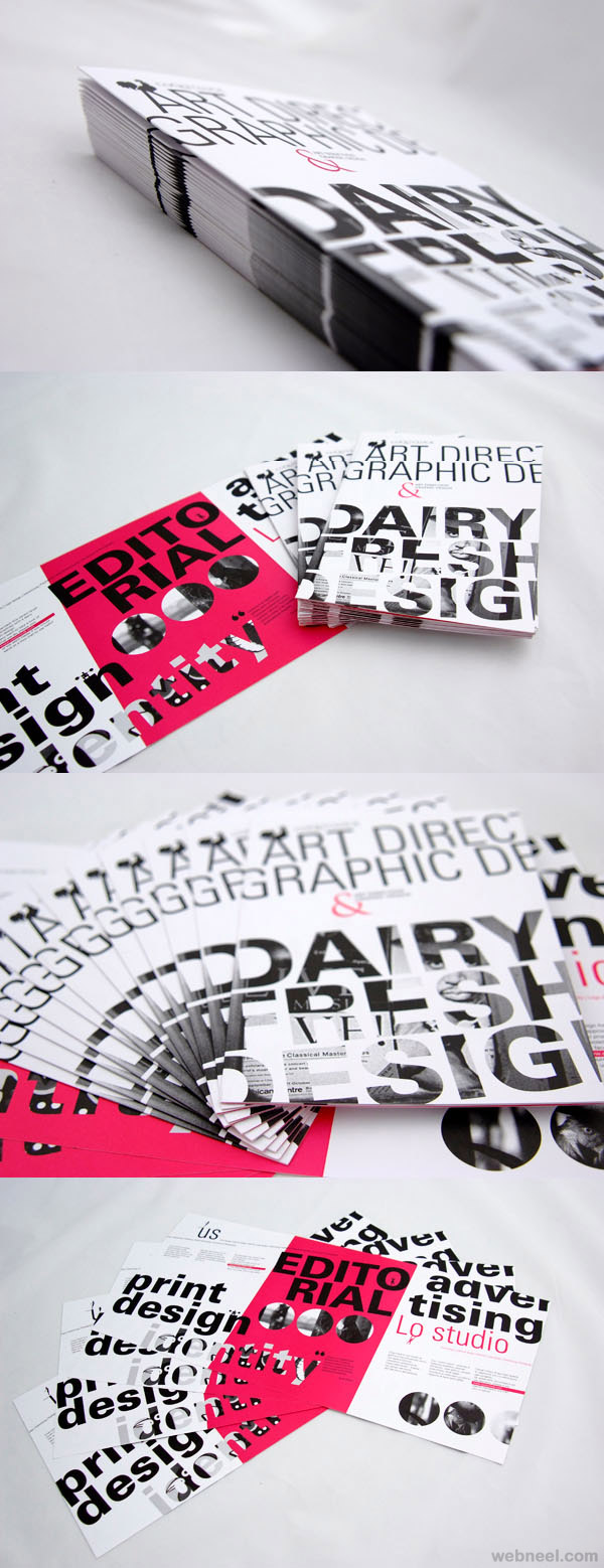 typography creative brochure design