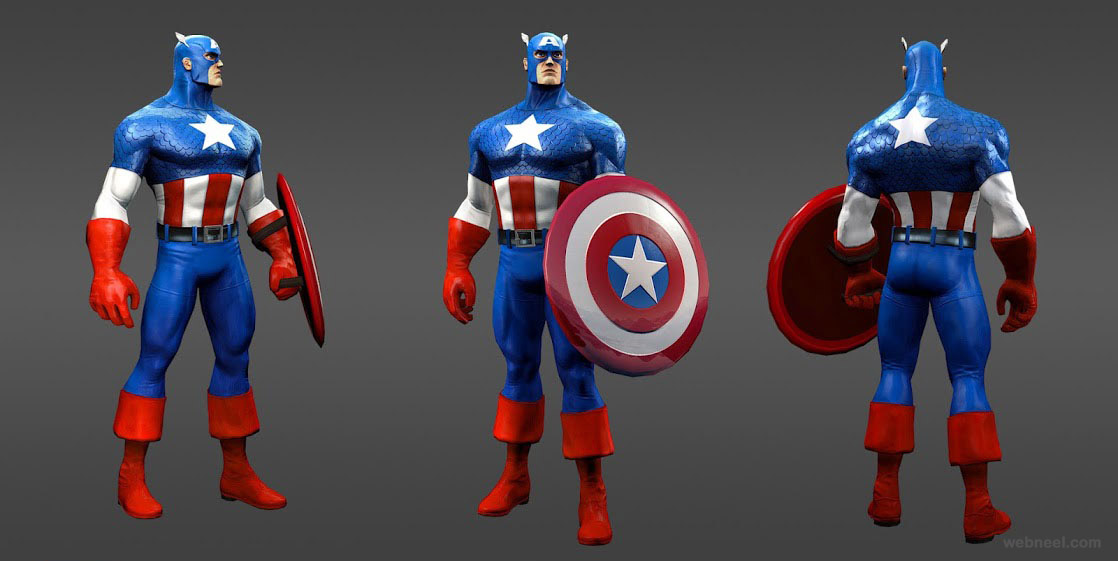marvel heroes captain america