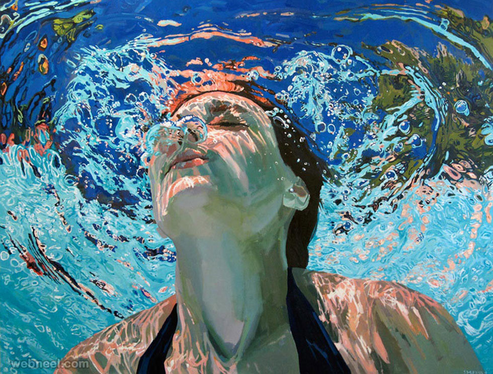 underwater paintings by samantha