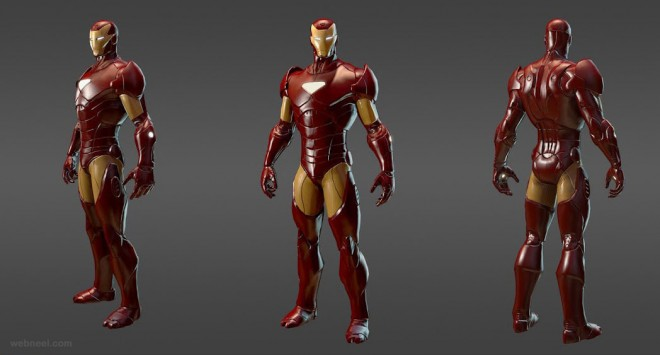 3d marvel heroes ironman extremis