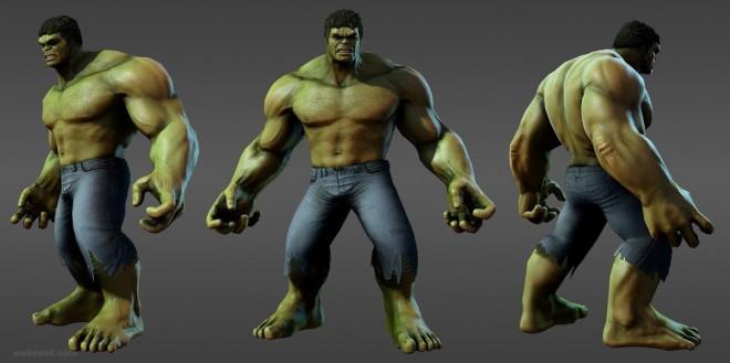 3d models marvel heroes hulk avengers
