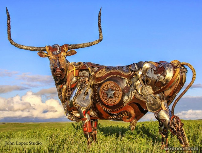 scrap metal sculpture john lopez