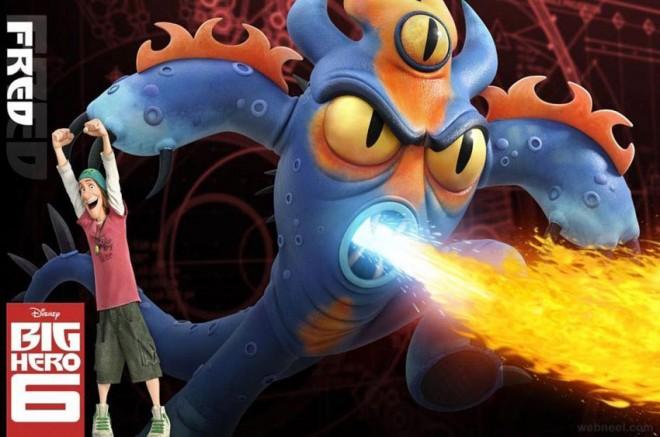 big hero 6 animation movie scene