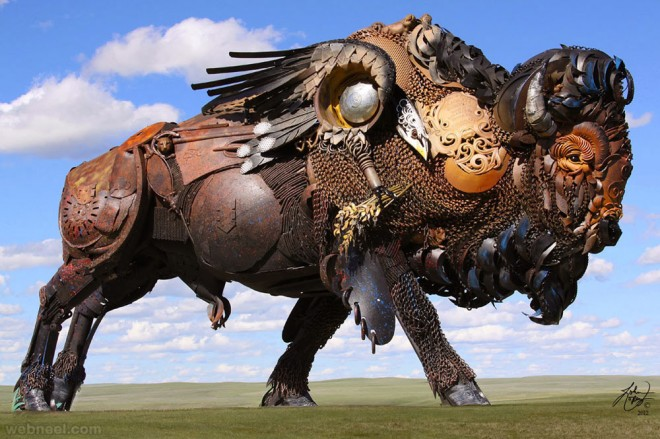 scrap metal sculpture john lopez