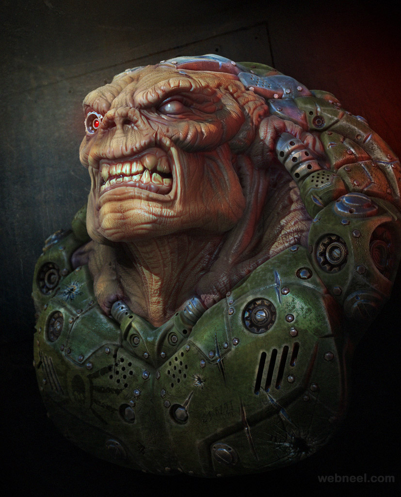 3d alien model