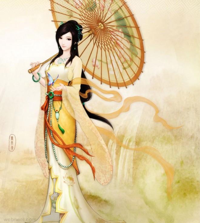 china painting girl
