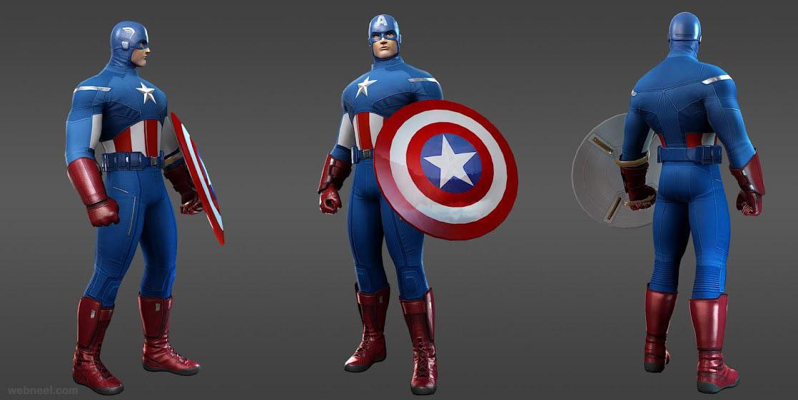 marvel heroes captain america avengers
