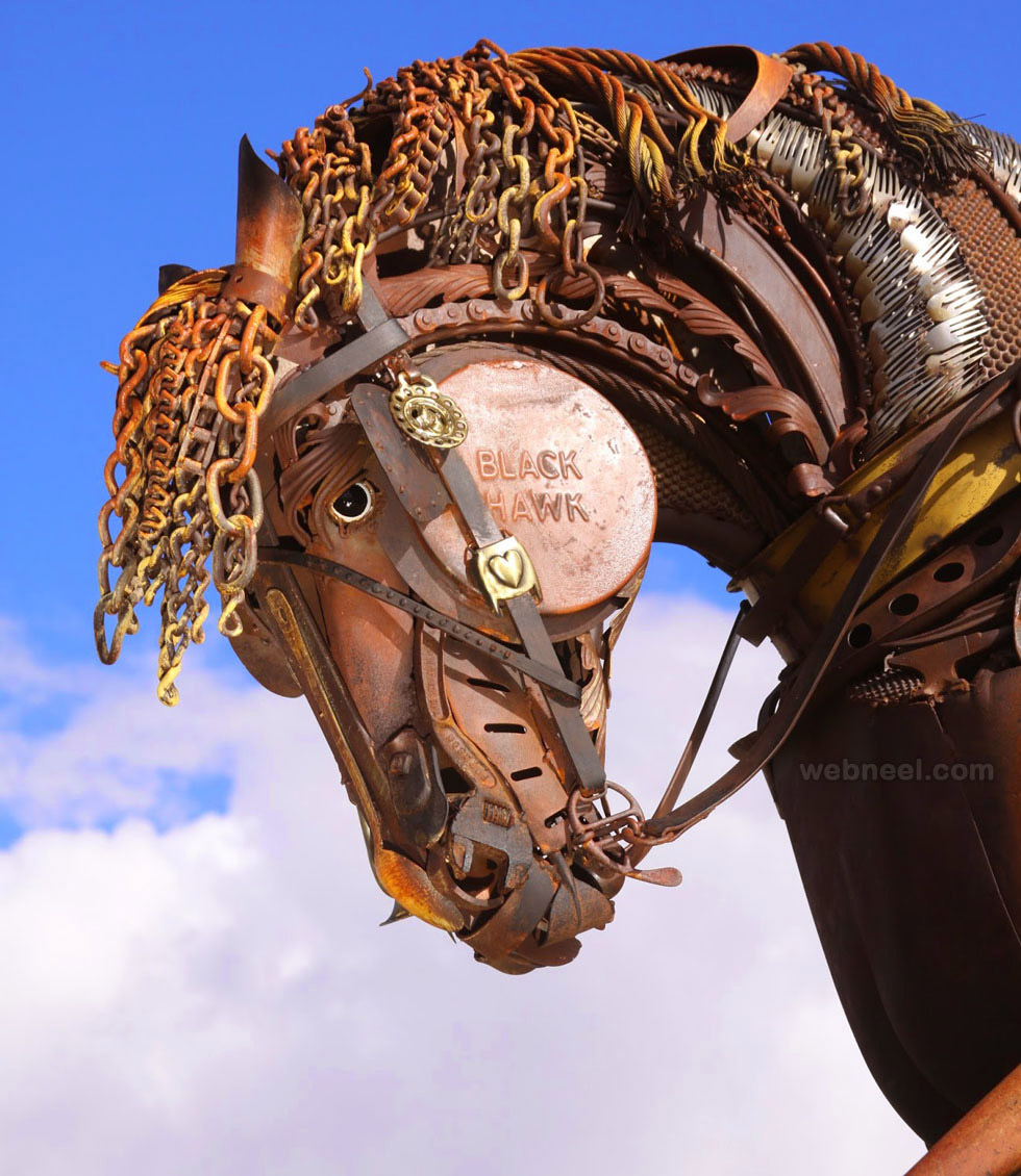 scrap metal sculpture
