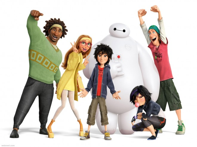 big hero 6 3d movie characters