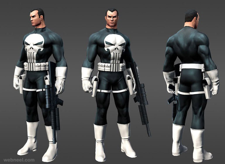 marvel heros punisher