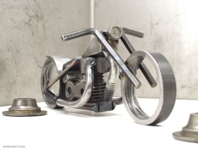 metal steel sculpture bike