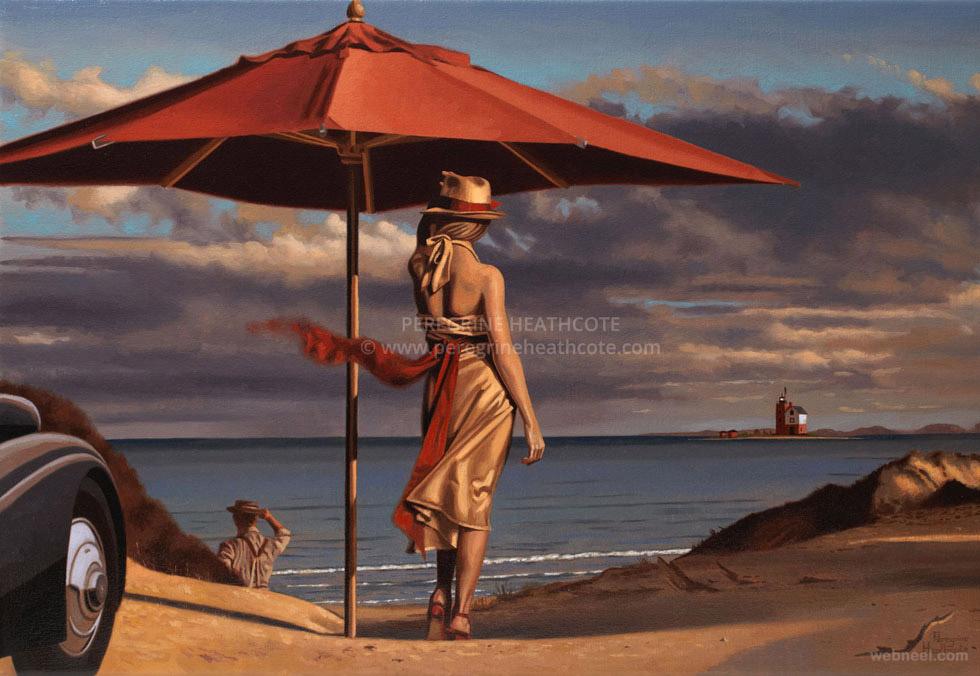 beach oil paintings peregrine
