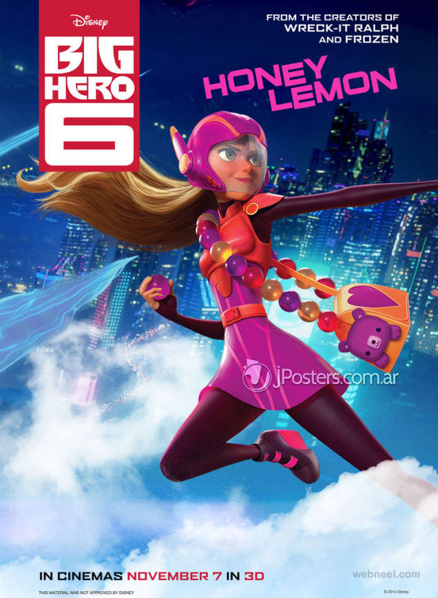 big hero animation movie poster