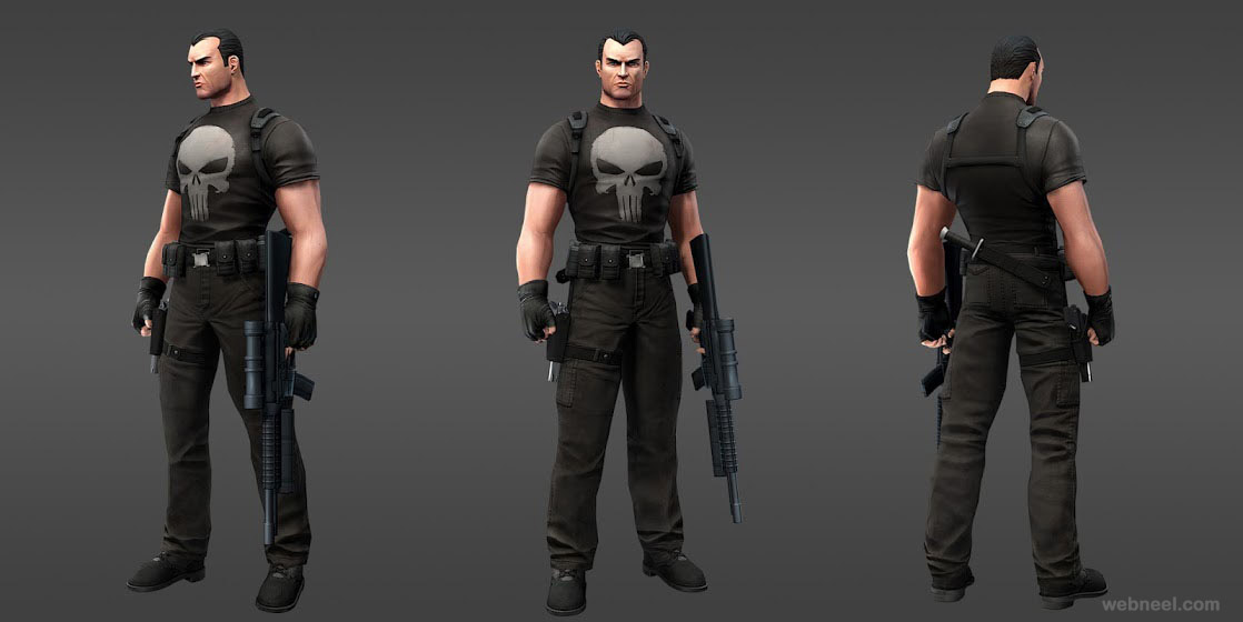 marvel superheroes punisher