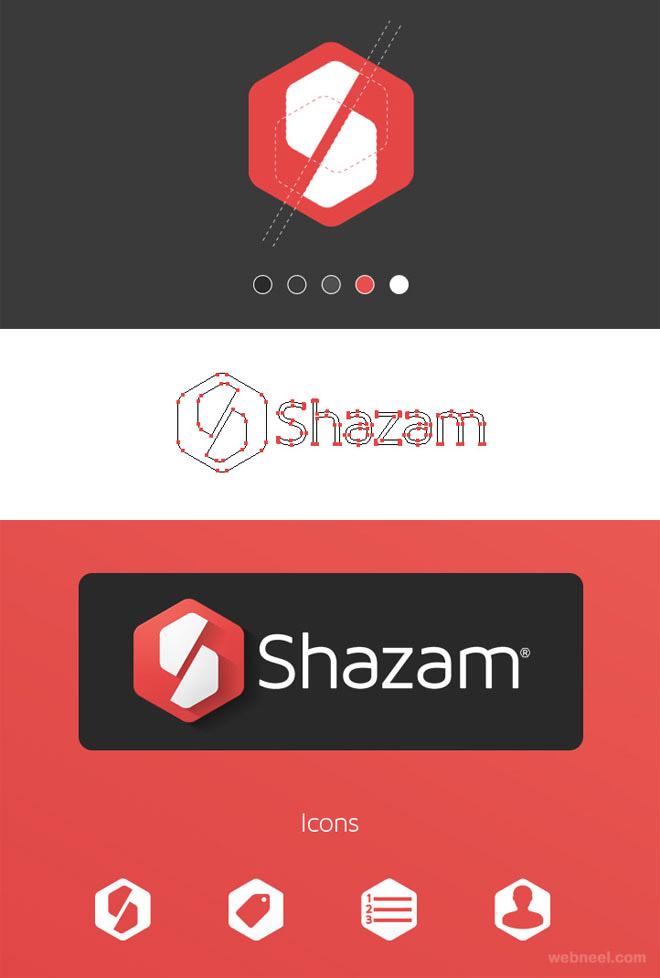 shazam branding identity design