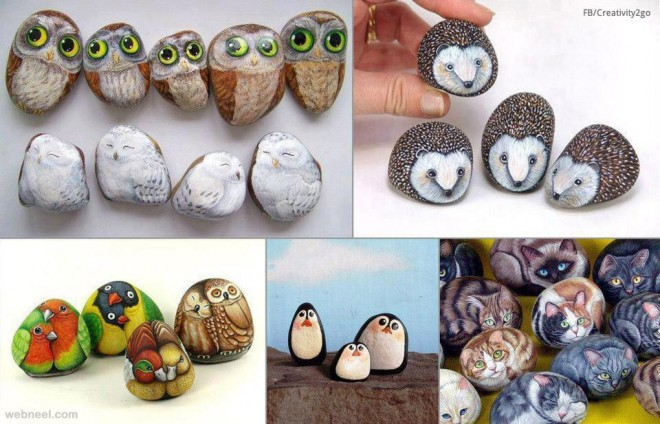 painted stones art