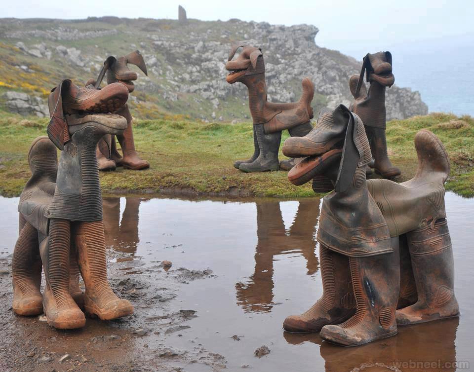 shoe sculpture art