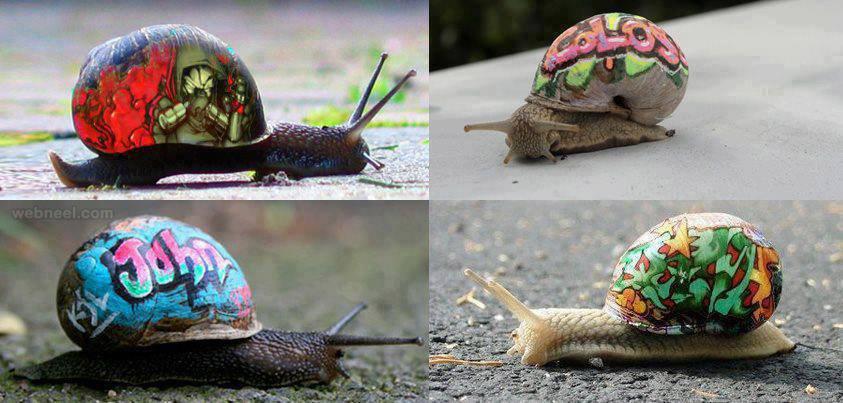 snail art by slinkachu
