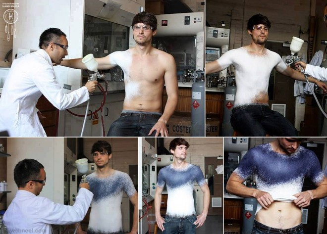 spray your t shirt