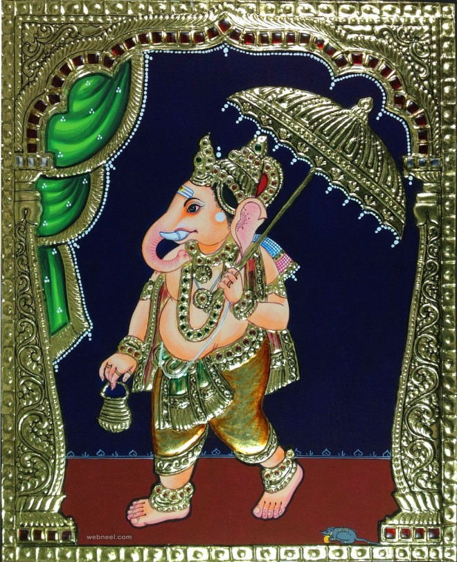ganesh tanjore paintings