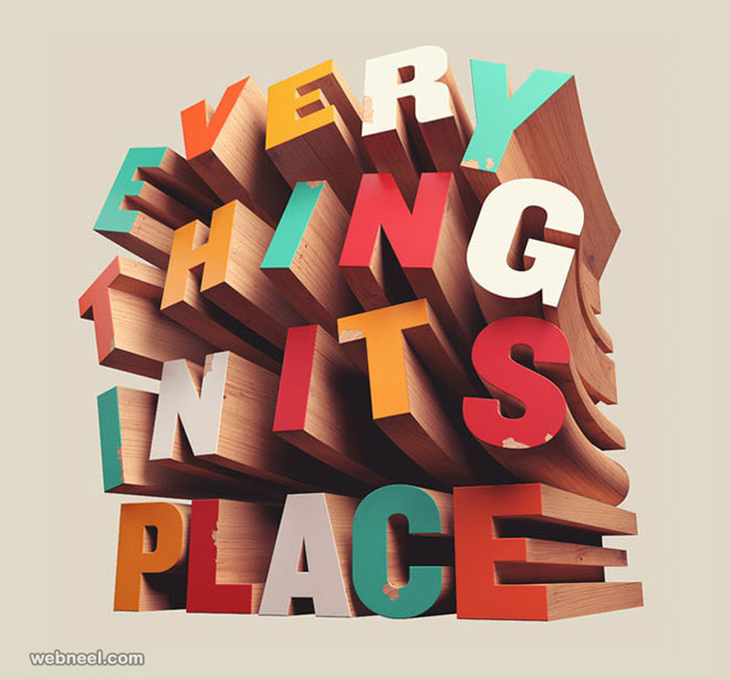 3d typography design