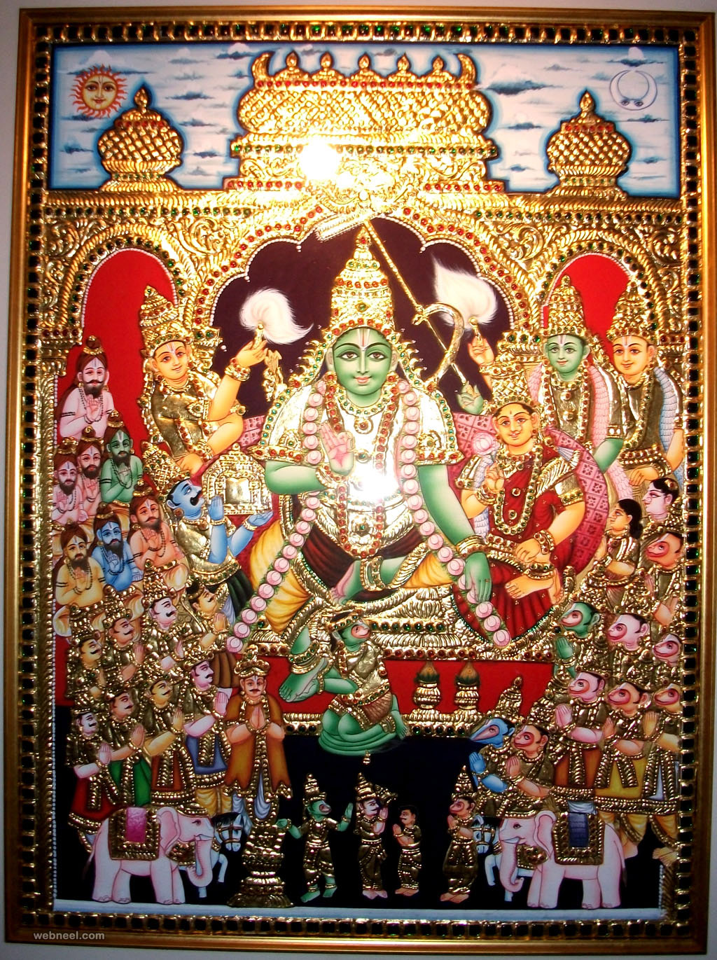 tanjore painting rama