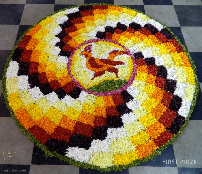 award winning pookalam design
