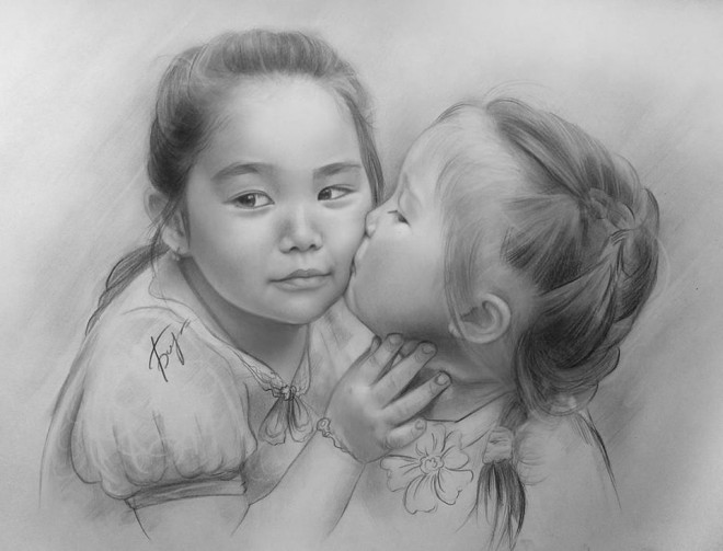 realistic pencil drawings by by kazakhstan artist vita biryulina