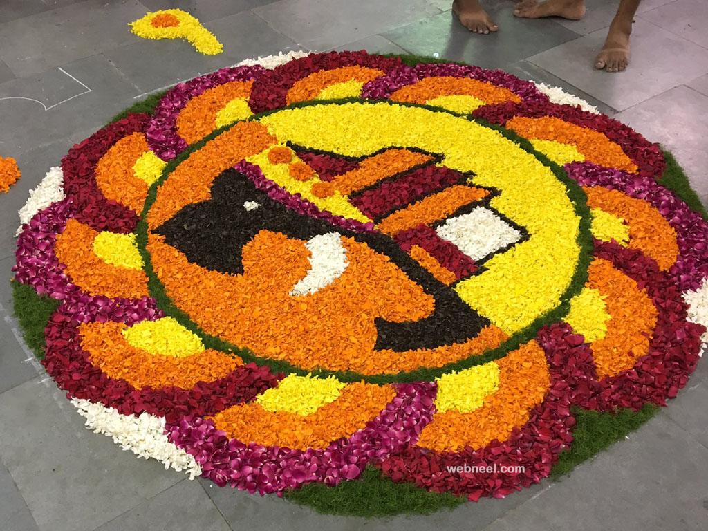 pookalam design by ashokabraham