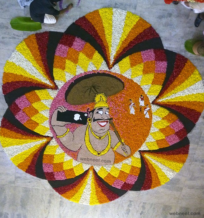 pookalam maveli face by sctce