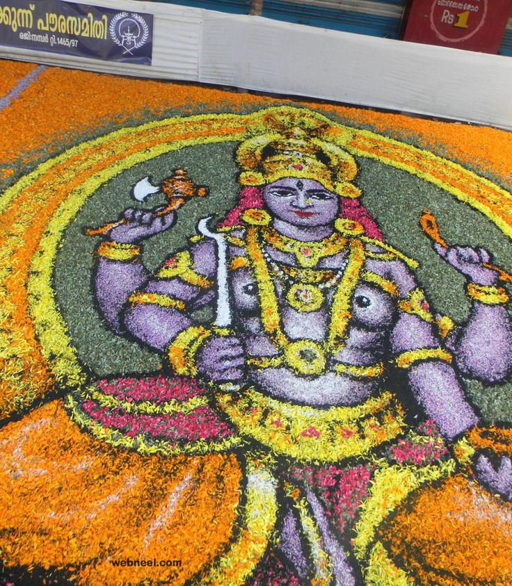 pookalam art goddess