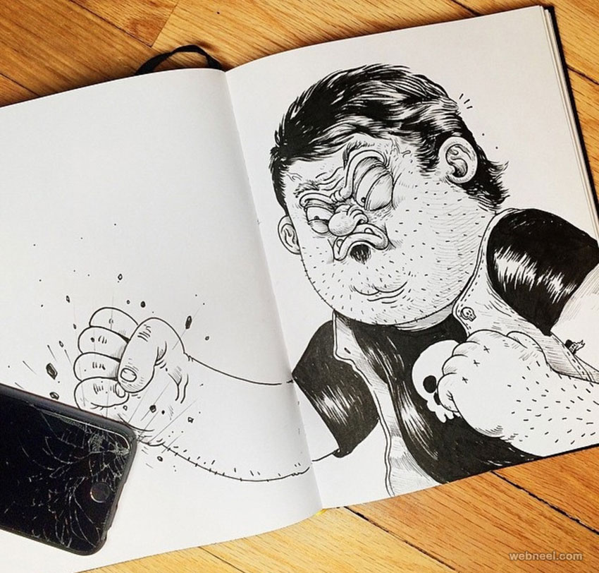 funny drawings angry by alexsolis