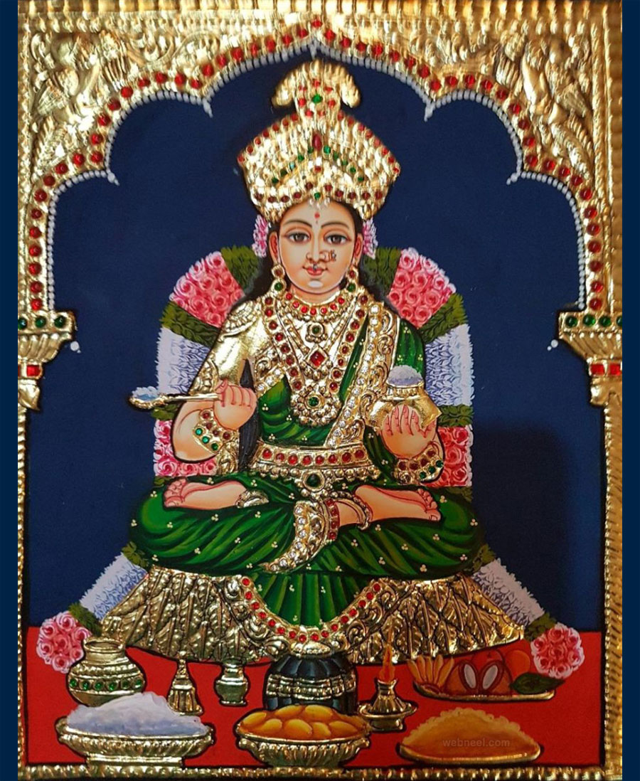 tanjore painting goddess