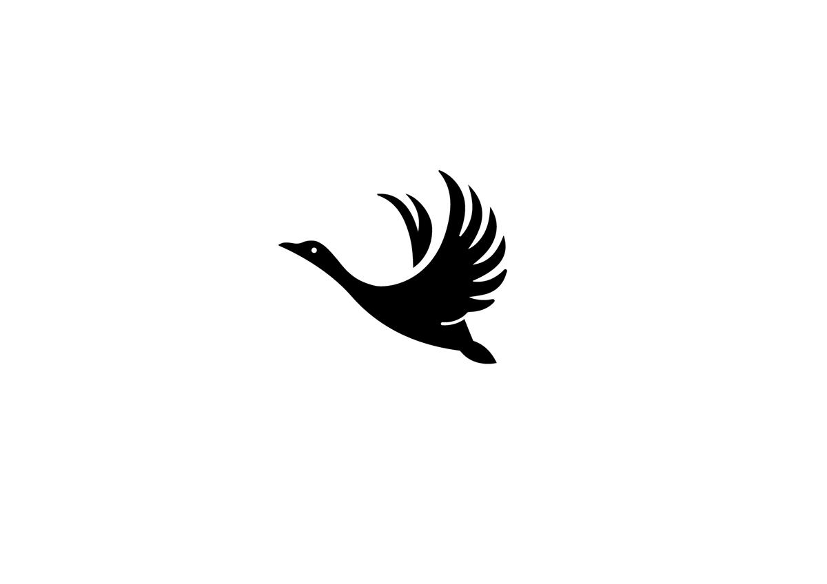 logo design goose by martigny matthieu