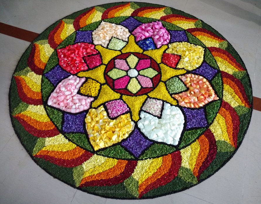 onam pookalam art award winning