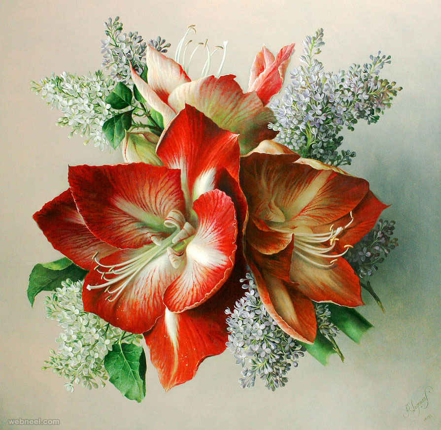 realistic flower painting