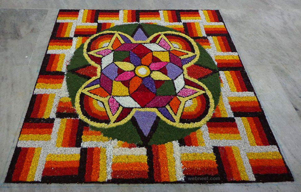 onam competition pookalam art
