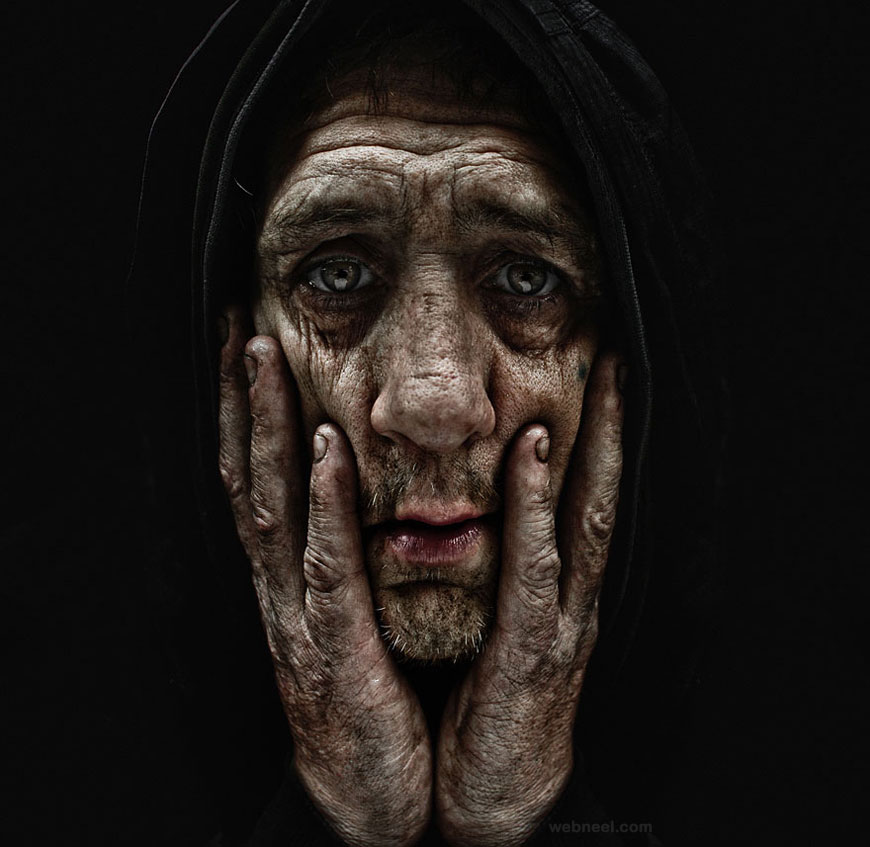 portrait photography homeless by lee jeffries