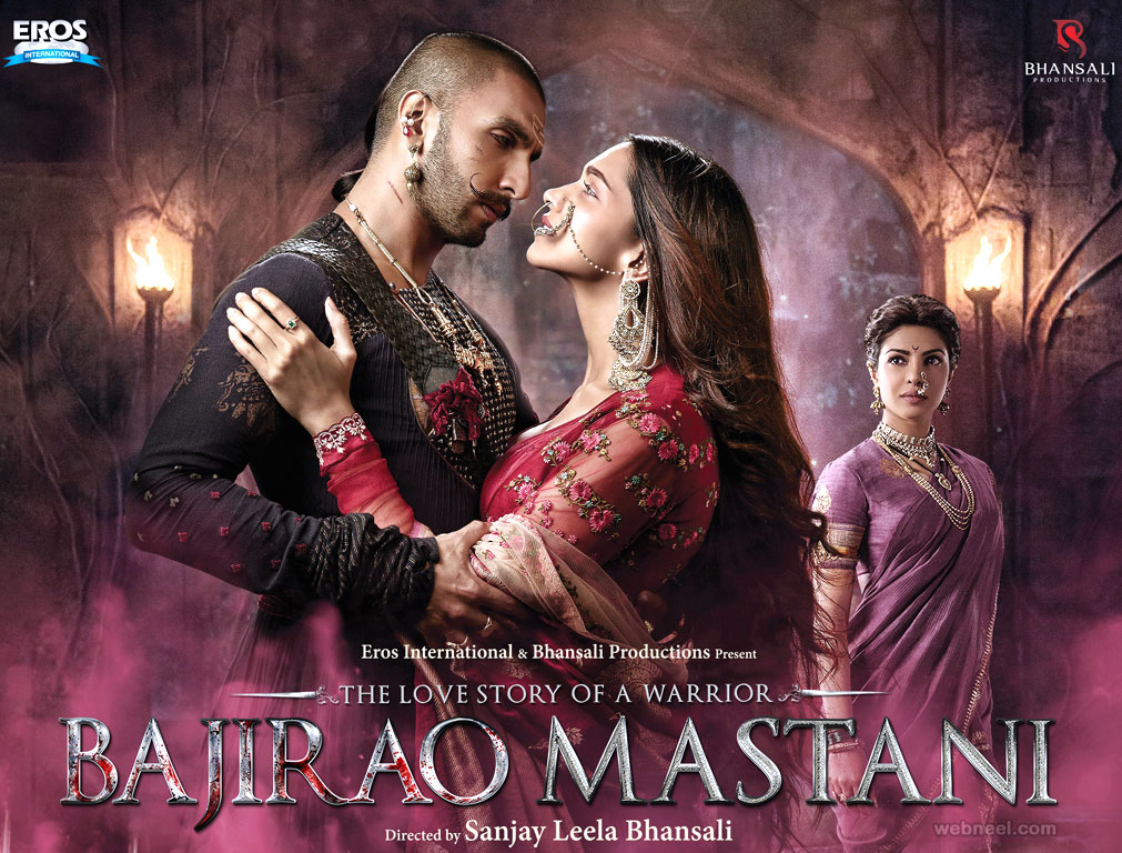 india movie poster design hindi bjirao mastani