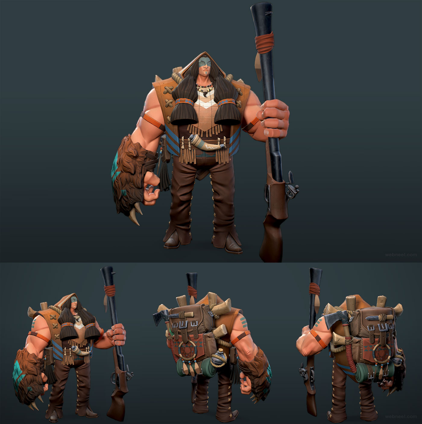 3d model game character by guillaume mahieu
