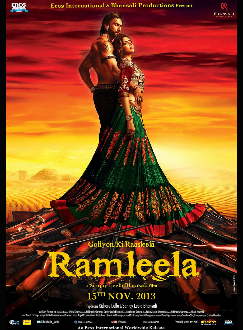 india movie poster design idea ramleela