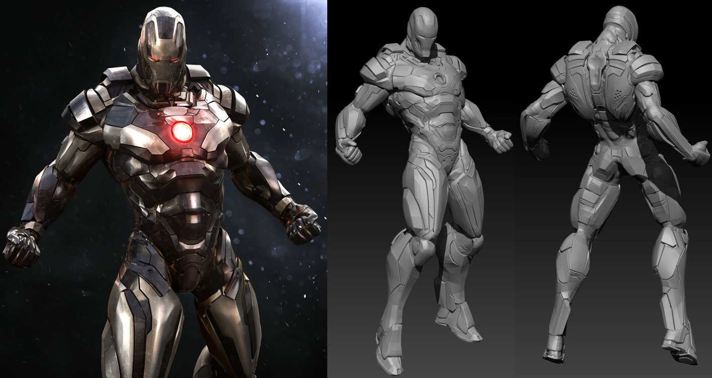 3d models iron man