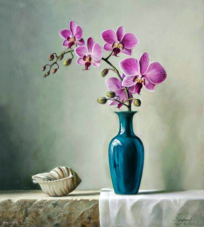 flower painting by pieterwagemansa