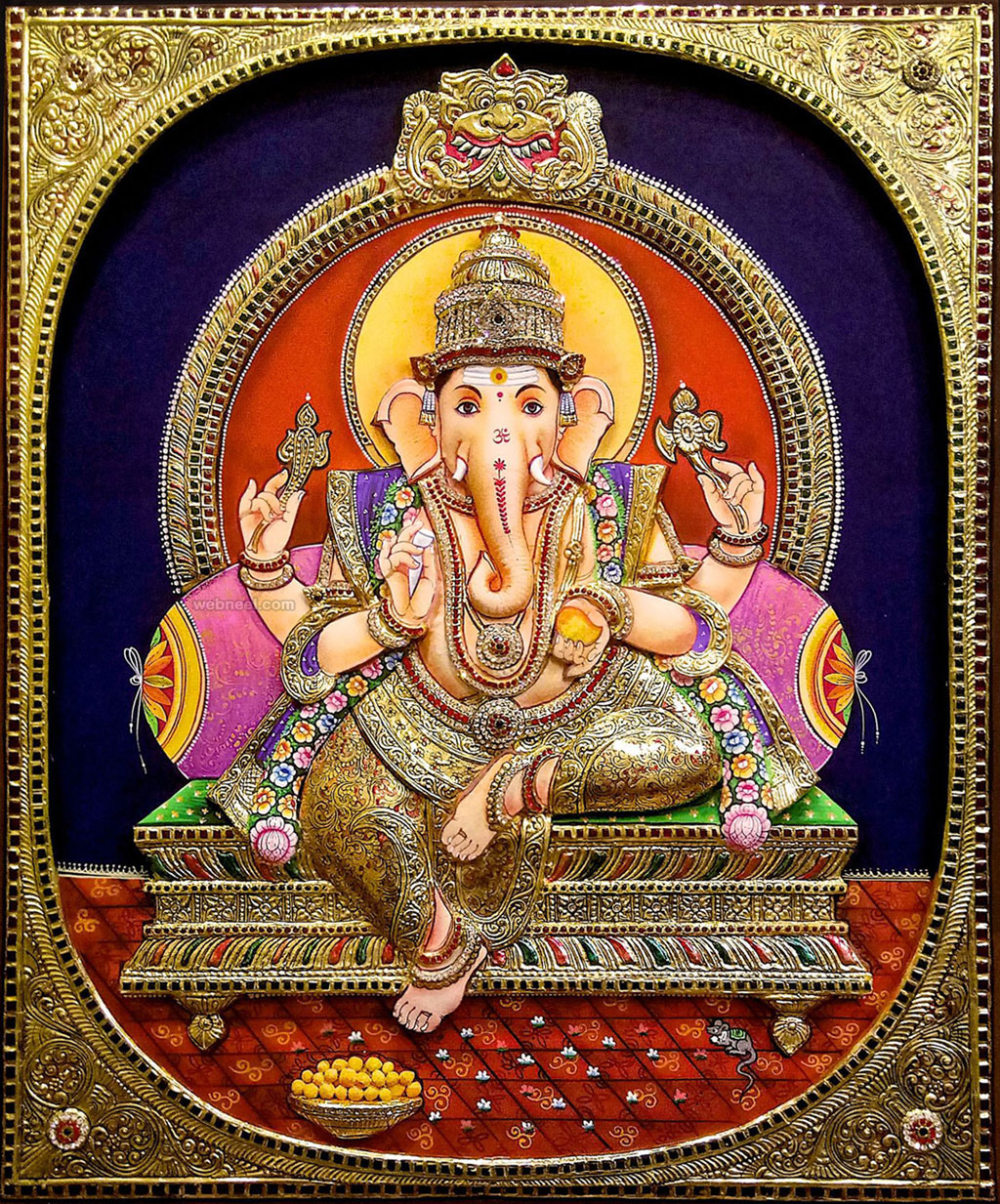 tanjore painting ganesh tamil tanjore art gallery