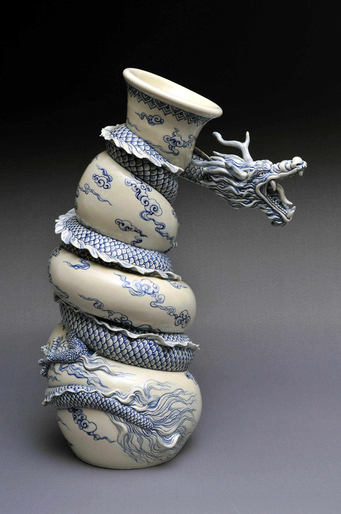ceramic sculpture dragon by johnsontsang