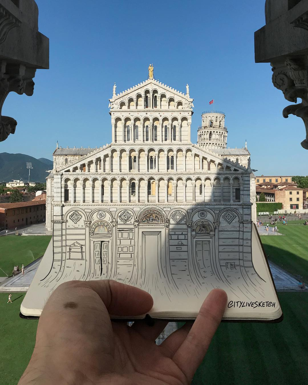 drawing monument by citylivesketch