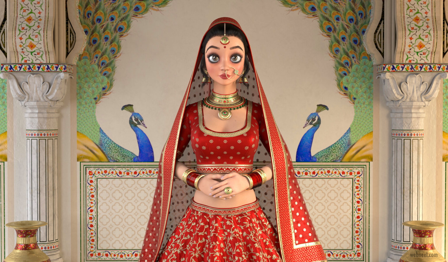 3d model indian princess by rohan bhargava